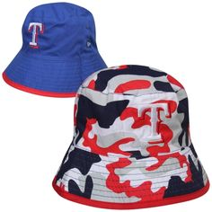New Era Texas Rangers Infant Camo Switch Up Reversible Bucket Hat - Royal  Blue Texas Rangers 83b3a4767