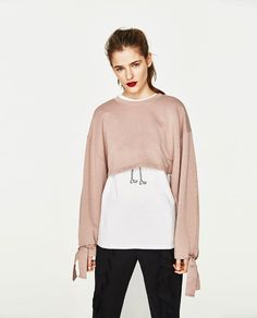 ZARA - WOMAN - CROPPED SWEATSHIRT WITH STRAPS