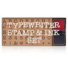 Typewriter+Stamp+and+Ink+Set