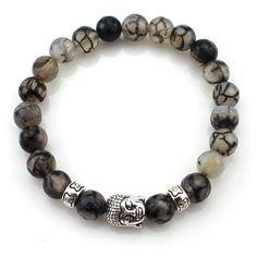 (3 pcs/lot) Natural Stone Buddha Bracelets