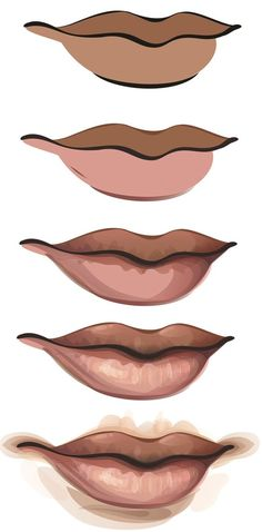 Step by step digitally painting lips; digital art tutorial // How to Create a…How to Create a Vector Girl using Adobe Illustrator or CorelDraw So erstellen Sie ein Vector Girl mit Adobe Illustrator oder CorelDrawNew fashion illustration digital pho Digital Painting Tutorials, Digital Art Tutorial, Art Tutorials, Drawing Tutorials, Fashion Drawing Tutorial, Digital Paintings, Drawing Tips, Drawing Ideas, Adobe Illustrator