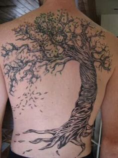 Jeana tree tattoo slc, tree ring person maybe?