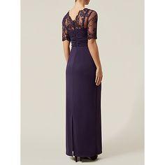 Buy Jacques Vert Embroidered Dress, Dark Purple Online at johnlewis.com