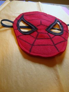 Felt Spiderman mask- Perfect for kids who are irritated by plastic masks