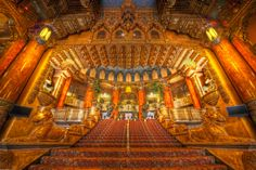 This is the Grand Staircase that greets you upon entering the Fabulous Fox Theatre in St. Louis, MO USA.