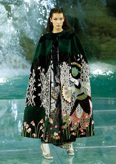 """Fendi's 90th anniversary show """"Legends and Fairytales"""" held at the Trevi Fountain (Fontana di Trevi), Rome, last summer. The show's inspiration came from the work of the Danish illustrator Kay Nielsen, and the collection of Norse fairy tales known as """"East of the Sun and West of the Moon"""", 1914."""