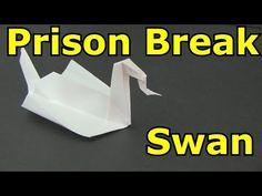 "How to Make the ""Prison Break"" Swan -Origami- - YouTube"