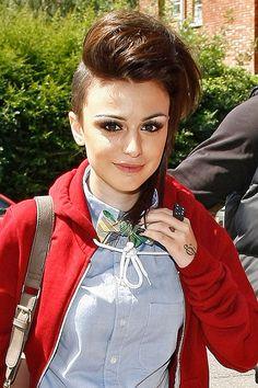 Cher Lloyd shaved undercut hair style - celebrity hair and hair styles