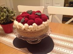 Crochet Strawberry Cake