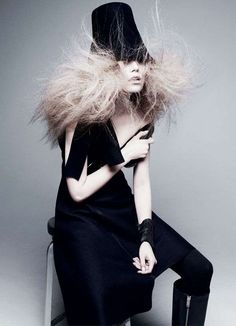 Hair-Raised Fashion Editorials : V Magazine Editorial  Suvi Koponen