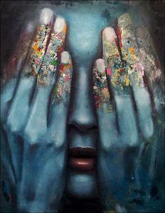"""Saatchi Art Artist: Mihail  Korubin  - Miho; Oil 2012 Painting """"it is over"""" Good."""