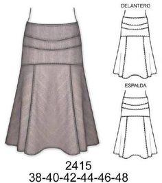 Resultado de imagen para modelos de faldas largas con pretina ancha