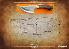Cool Knives, Knives And Swords, Knife Shapes, Knife Drawing, Knife Template, Blacksmithing Knives, Knife Patterns, Blacksmith Tools, Knife Handles