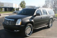 #Matte #black total #covering on #CadillacEscalade.