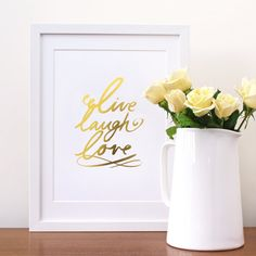 gold foil quote print - great for a modern bedroom!
