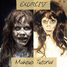 The #exorcist #makeup tutorial #halloween #halloweenmakeup.