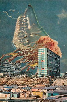 collage art monster
