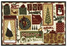 Holiday Collection Mix 3p173 Shaw Area Rug Georgia Carpet Industries Rugs Christmas
