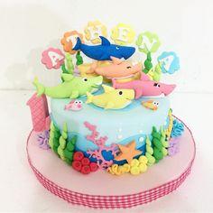 Baby shark cake #birthdaycake #bandungcake #delightfullycake #babyshark #pinkfong - delightfullycake