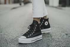 Clean Leather Platform Chuck Taylor All Star Womens High