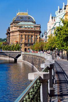 The National Theatre in Prague, Czech Republic.