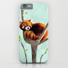 Red+Panda+iPhone+&+iPod+Case+by+Whitney+Silva+-+$35.00