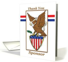 Eagle Scout Project card: Thank You SPONSOR Eagle Scout Card by Sandra Rose Designs