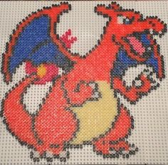 Charizard Pokemon hama beads by sebastien