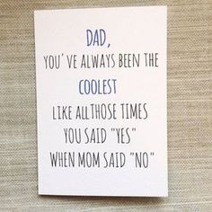 funny-father-daughter-quotes-sayings - Make me smile - . - funny-father-daughter-quotes-sayings – Make me smile – # funny father daughter quote sayings - Father Birthday Cards, Funny Fathers Day Card, Funny Birthday Cards, Birthday Ideas For Dad, Fathers Day Sayings, Fathers Day Wuotes, Humor Birthday, Birthday Greetings For Dad, Dad Sayings