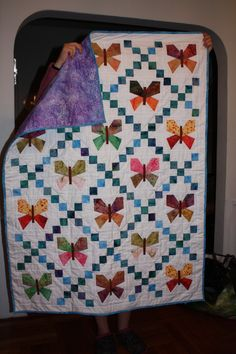 Butterfly paper pieced quilt