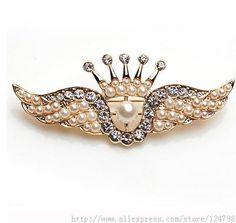 Броши корона брошь, гламур богиня персонализированные роман и уникальный танец стиль гладкий горячие продаж аксессуаров, крылья брошь(China (Mainland))
