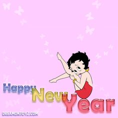 Happy New Year - Betty Boop Christmas & Winter Graphics & Greetings GO TO ➡ http://boopchristmas.blogspot.com/ • #BettyBoop #HappyNewYear #Quotes