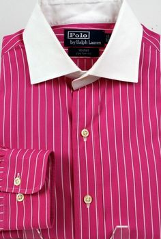 Ralph Lauren Spread Striped Classic Fit Dress Shirts for Men Fitted Dress Shirts, Shirt Dress, Cool Shirts For Men, Men's Shirts, Cool Designs, Polo Ralph Lauren, Best Deals, Classic, Fitness