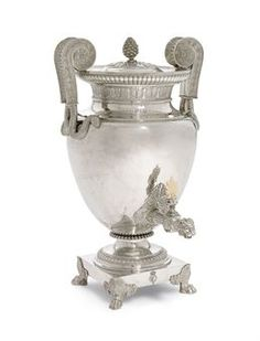 George III Silver Tea Urn, mark of Paul Storr, circa Silver Teapot, Silver Plate, Vintage Silver, Antique Silver, Elgin Marbles, Ancient Greek Art, Tea Service, Coffee Service, Urn