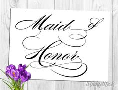 Maid of Honor Sign for Your Wedding Reception by StickyStick, $5.00