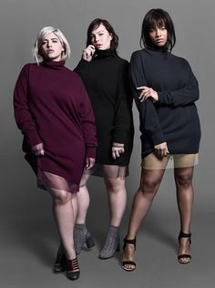 Luxurious wool/cashmere turtleneck dress with that extra length in the arms for a lush feel. There is no wrong way to wear this piece. Get it fitted, get it loo