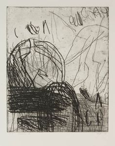 Ada Tomescu Ithaca IV 1997 Etching / dry point, printer's proof. 49.5 x 39.5cm
