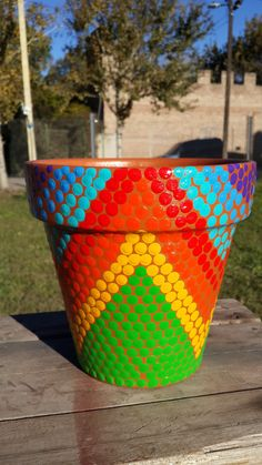 Macetas pintadas a mano. A'cha Pots. Flowerpots. Vasinhos. Pots des fleurs. achapots@hotmail.com