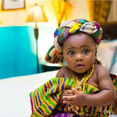 She is cute!!!  #KenteBaby Photo Source: I Do Ghana {https://www.facebook.com/Idoweddingz} Photo Credit: Manuel Imagery {https://www.facebook.com/manuelimagery}