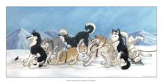 """""""Why there are no spiders in Alaska"""" just about every dog I've known totally freaks out over spiders. The bigger the dog, the more hilarious it is. Source: http://tanidareal.deviantart.com/art/Why-there-are-no-spiders-in-65773698"""