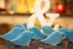 Rocking Love Bird Wedding Table Decor