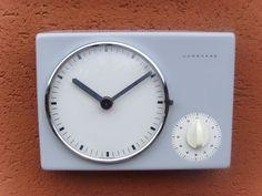 Damaged Junghans Kitchen Wall Clock Mantle Max Bill Era 1958 Kienzle | eBay