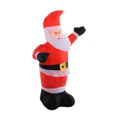 Inflatable Christmas Decoration Outdoor Santa Claus Light Up Festive Lawn Figure #unbranded