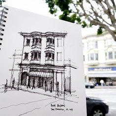https://flic.kr/p/spX3uo | Back in San Francisco #architecture #sketch