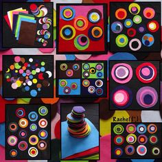 """""""Something we enjoyed last year - felt pieces & circles. We didn't actually do this for #dotday, but it seems appropriate to share it 2 days before..."""""""