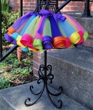 NEW! Rainbow Tutu/Petti Skirt Ladies Tulle: Adult, One Size fits most