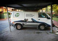 Keď sa dodaávka zmení na kabrio... Autopolepom je možné všetko.