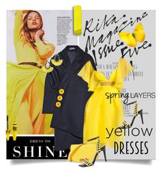 """Yellow Dresses"" by lacas ❤ liked on Polyvore featuring Levi's, Jacquemus, BaubleBar, Marni, ALDO, Maybelline and yellowdress"