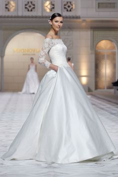 Pronovias 2015 Wedding Dress Trends  http://www.hawaiianweddings.net #WeddingDresses #Harpersbazaar #SpringFashionWeek