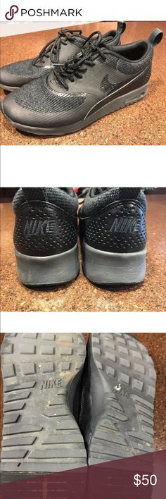 Nike Air Max Thea All Black Kicks Good condition. No excessive wear. Not perfect but still good. Nike Shoes Sneakers